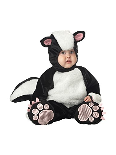 InCharacter Costumes Baby's Lil' Stinker Skunk Costume, Black/White/Pink, 6-12 Months