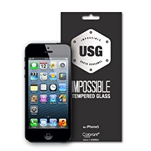 Colorant USG ITG - Impossible Tempered Glass for iPhone 5 【強化ガラス製液晶保護フィルム】