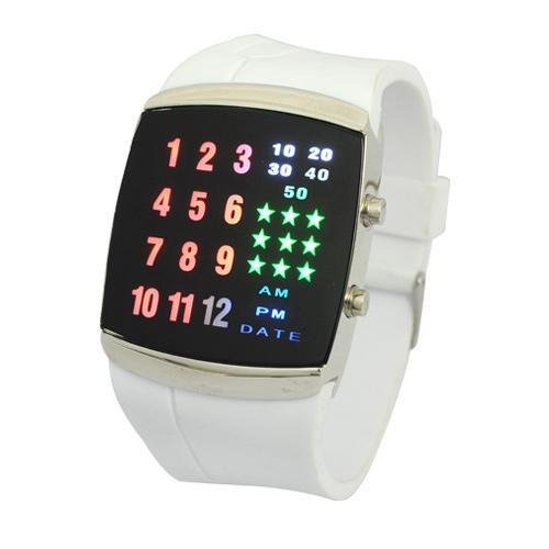 Neewer Multicolor UNISEX LUXURY BINARY FASHION 29 LED DIGITAL WRIST WATCH