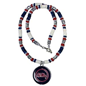 Buy Mississippi Rebels Ole Miss Shell Necklace - 18 by Siskiyou