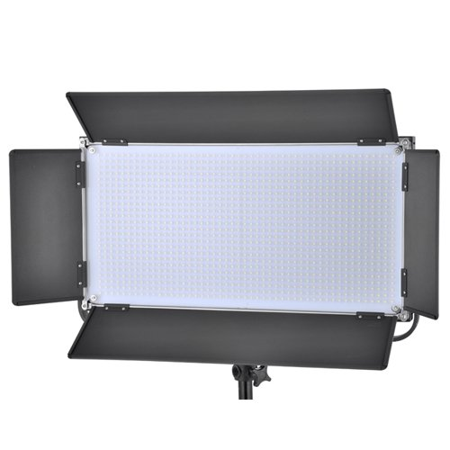 Iled 1260As Led Bi-Color Dimmable Video Light Panel With V-Mount Plate And Barndoors + Battery Converter Adapter