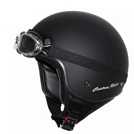 Casque jet matt casque custom rider black