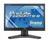 iiyama 21.5インチワイドマルチタッチ液晶ディスプレイ 1920×1080(フルHD1080P)対応 2系統入力装備 マーベルブラック PLT2250MTS-B1