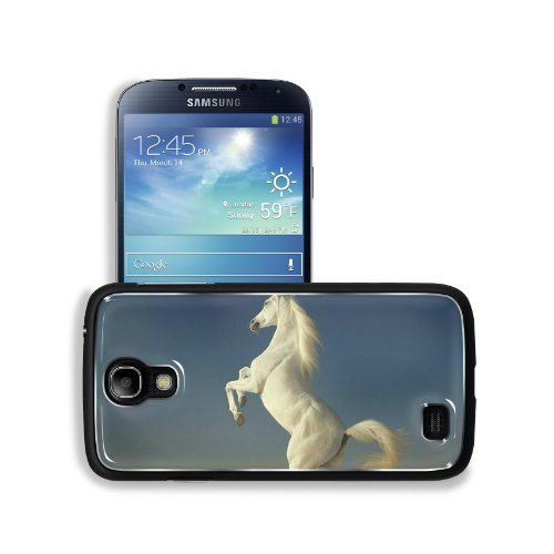 Animal White Horse Best Computer Backgrounds Samsung Galaxy S4 Snap Cover Aluminium Design Back Plate Case Customized Made To Order Support Ready 5 3/16 Inch (132Mm) X 2 13/16 Inch (71Mm) X 4/8 Inch (12Mm) Liil Galaxy_S4 Professional Metal Cases Touch Acc