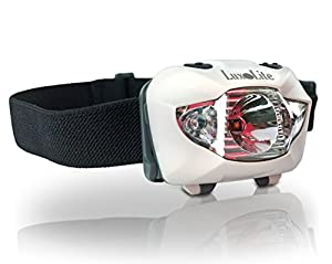 Luxolite White CREE LED Headlamp with Red Night Vision - Simple Touch Switch Toggles Between White & Red LED Light - Elastic Headband Gives You Hands-free Ultra Bright Light That's Perfect for Running, Reading, Hunting, Camping, Cycling, DIY and More - Water-resistant, Long Battery Life, 3 AAAs Included - Lifetime Warranty!
