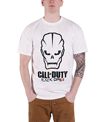 Call Of Duty Skull logo White T Shirt
