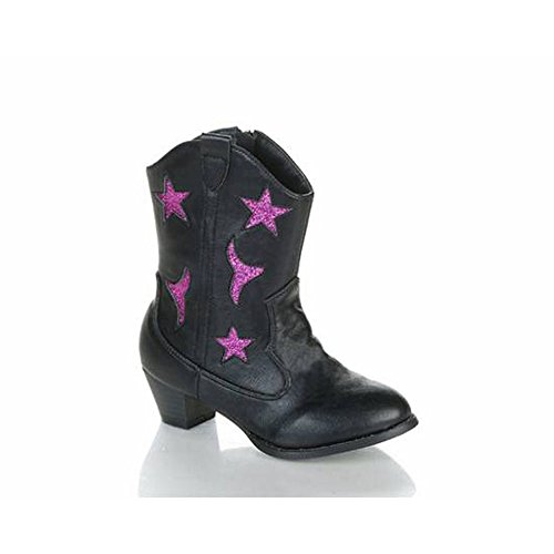Jelly Beans Kid'S Big Girls Chunky Heel Star Western Style Knee High Boots