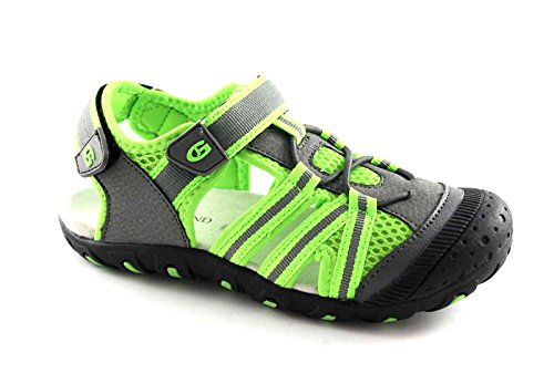 GRUNLAND TIPO SA0976 31/35 grigio lime sandali chiusi scarpe bambino 34