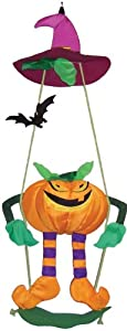 In the Breeze AV-1145 Pumpkin Swingerz Outdoor Hanging Decor by In The Breeze