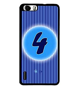 Fuson 2D Printed Numerology Designer back case cover for Huawei Honor 6 - D4221