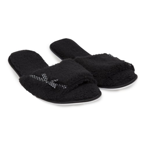 Image of Ladies/Womens Soft Slip-On Open Toe Indoor Footwear/Slippers with Bow (B009BFOXL2)