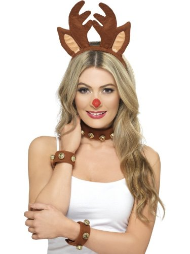 Pin Up Reindeer Kit Fancy Dress Woman Costume