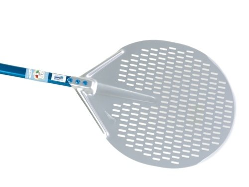 """Professional 13"""" Perforated Circular Pizza Peel With 47"""" Handle front-364051"""