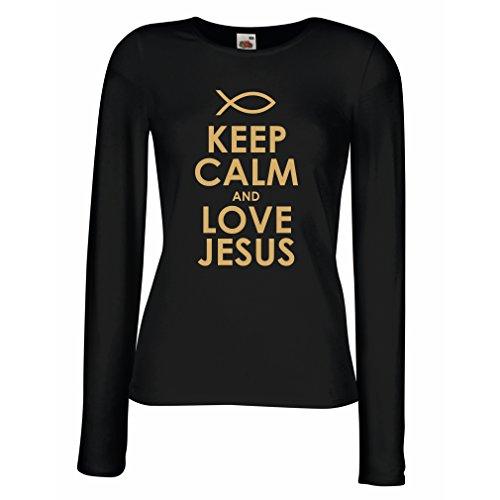 weibliche langen rmeln t shirt christliche geschenke liebe jesus christliche geschenkideen. Black Bedroom Furniture Sets. Home Design Ideas