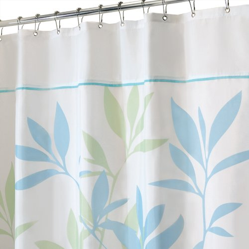 80 Inch Shower Curtain Liner Black and Ivory Shower Curtain