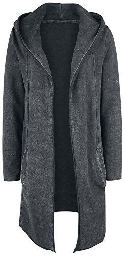 Fashion Victim Washed Sweat Cardigan Cardigan donna grigio scuro XXL