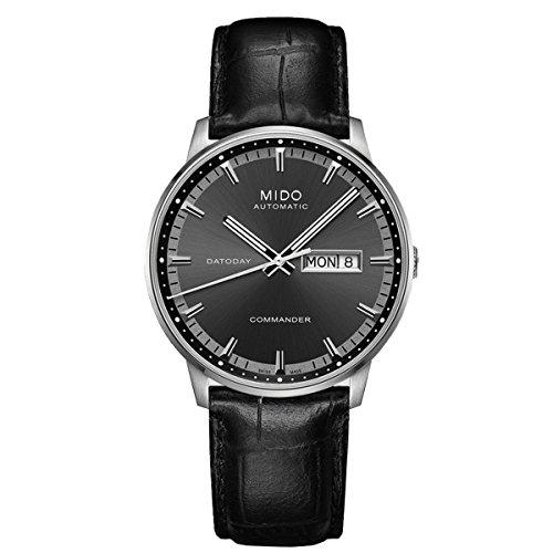 mido-herren-armbanduhr-commander-ii-analog-automatik-leder-m0164301606180