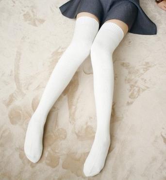 desy Autunno Cachemire calze al ginocchio/donna lunga regali di Natale di gamba calze/calzini/Joker tinta unita in cotone , 6