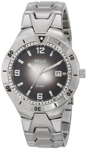 Relic Men'S Zr11607 Analog Display Analog Quartz Silver Watch