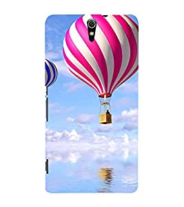 three hot air balolons over an ocean 3D Hard Polycarbonate Designer Back Case Cover for Sony Xperia C5 Ultra Dual :: Sony Xperia C5 E5553 E5506 :: Sony Xperia C5 Ultra