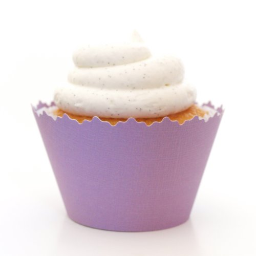 Light Pastel Purple Cupcake Wrappers - Set Of 12 - Wrap Liner For Decoration, Accent & Décor On Cupcakes