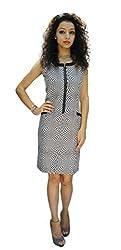 BK Black Women's Dress (LPRS1516903_Black White_Large)