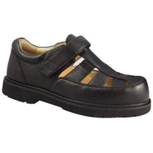 Apis Mt. Emey 505 Men'S Therapeutic Extra Depth Sandals: Black 10 Xx-Wide (6E) Velcro front-268412