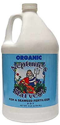"Neptune`s Harvest Organic Fish Seaweed Blend Fertilizer 1 Gal Omri Hydroponics"""