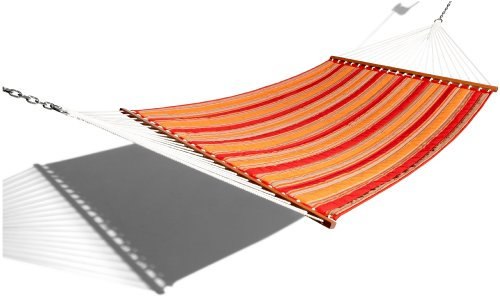 Strathwood Basics Quilted Fabric Hammock, Red Stripe