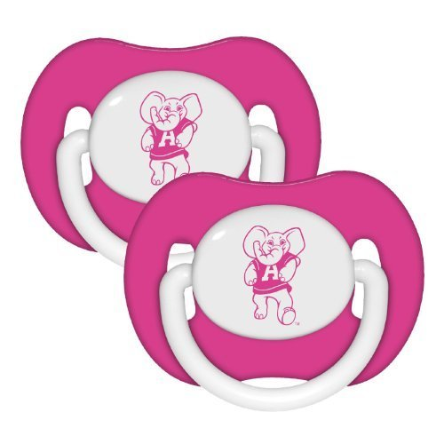 Alabama-Crimson-Tide-2-pack-Pink-Infant-Pacifier-Set-NCAA-Baby-Bama-Girl-Pacifiers-by-Baby-Fanatic