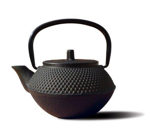 Old Dutch Cast Iron Tokyo Teapot, 11-Ounce, Black front-41613