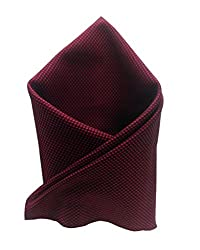 Blacksmithh Jester Red Egyptian Giza Cotton Pocket Square