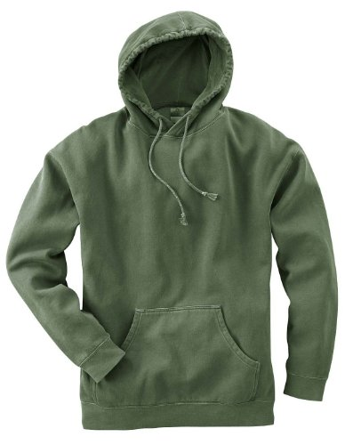 Authentic Pigment 80/20 Fleece Pullover Hood - HEMP - 2XL