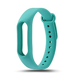 Dealz ON For Xiaomi Newest Replacement wrist Strap for Xiaomi Mi Band 2 MiBand 2 Silicone Wristbands for Mi Band2 (Cyan)
