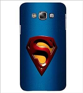PrintDhaba Superman Logo D-2087 Back Case Cover for SAMSUNG GALAXY E7 (Multi-Coloured)