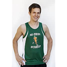 Men's Green/White Singlet