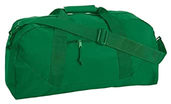 Liberty Bags Large Square Duffel, Kelly Green, One Size