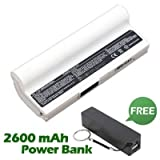 Battpit⢠Laptop / Notebook Battery Replacement for Asus Eee PC 904 HD (6600mAh / 49Wh) with FREE 2600mAh Power Bank / External Battery (Black) for Smartphone.