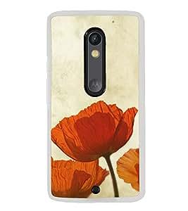 Beautiful Orange Flowers 2D Hard Polycarbonate Designer Back Case Cover for Motorola Moto X Style :: Moto X Pure Edition