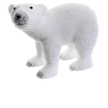 Snow Drift White Standing Polar Bear Table Top Christmas Figure Decoration by Allstate