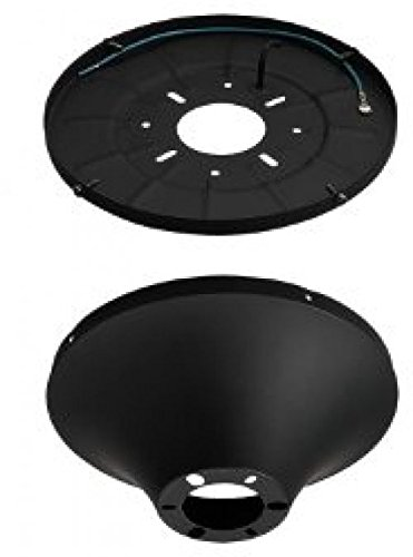 Monte Carlo MC192BK Wet Heavy Duty Semi-Flush Mount Canopy Kit, Matte Black ..#G4E435T1 34452-3T534904 (Wet Mount Kit compare prices)
