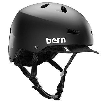 Bern Unlimited Macon Eps Summer Helmet With Visor, Matte Black, Large/X-Large front-1027041