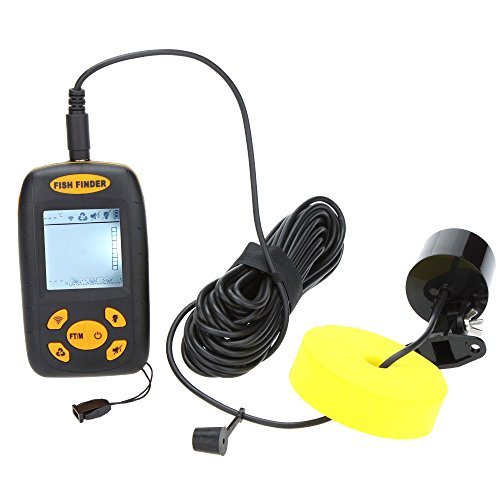 Lixada deteuteur à poisson 25ft câble Fish Finder pêche profondeur Sonar capteur alarme transducteur sondeur 100m