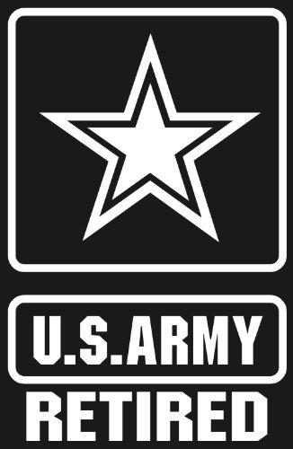 U S Army Retired Star Logo White Window Or Bumper Sticker