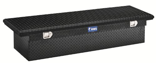 UWS TBS-69-LP-BLK Black Single Lid Low Profile Aluminum Toolbox with Beveled Insulated Lid (Uws Truck Tool Box compare prices)