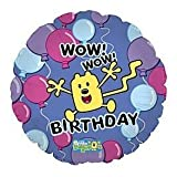 Wow Wow Wubbzy 18 Inch Mylar Foil Balloon Blue purple jum