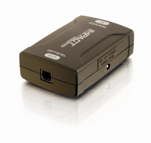 C2G / Cables To Go 40018 Coaxial To Toslink Optical Digital Audio Converter
