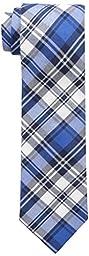 Tommy Hilfiger Men\'s Big Plaid Tie, Blue, One Size