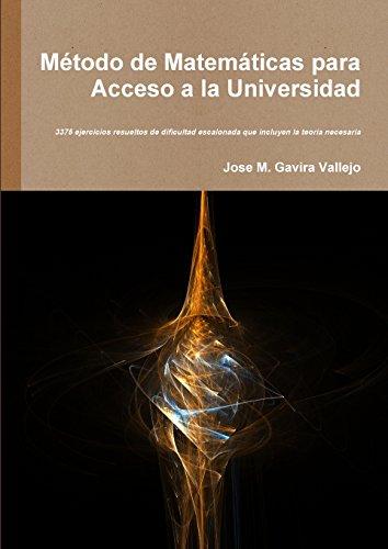 Método de Matemáticas para Acceso a la Universidad