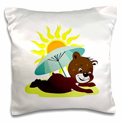 susans-zoo-crew-beach-bear-on-beach-sun-umbrella-sand-16x16-inch-pillow-case-pc-178148-1